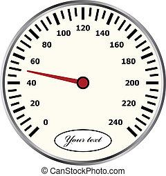 vecteur, compteur vitesse