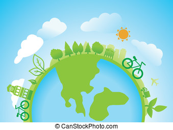 vecteur, concept, écologie