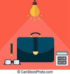 vecteur, concept, business, compagnie, moderne, illustration, stratégie, rapide, croissance, gestion, ton