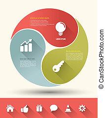 vecteur, concept, business