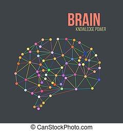vecteur, concept, cerveau, humain, créatif