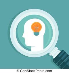vecteur, concept, idée, créatif