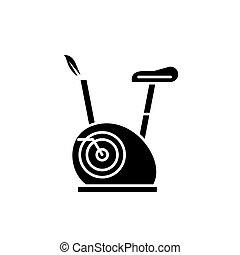 vecteur, concept, isolé, illustration, signe, arrière-plan., vélos, noir, icône, symbole, exercice