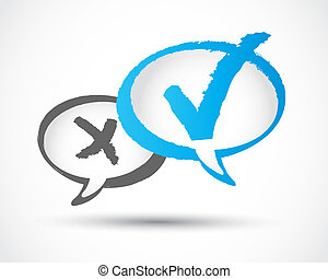 vecteur, concept, marque contrôle