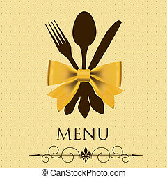 vecteur, concept, menu., illustration, restaurant