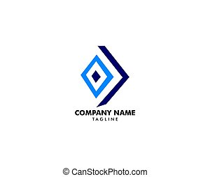 vecteur, concept, rhombe, conception, logo