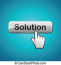 vecteur, concept, solution, illustration