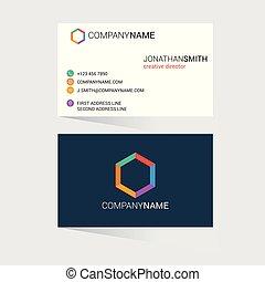 vecteur, conception, carte, business, créatif
