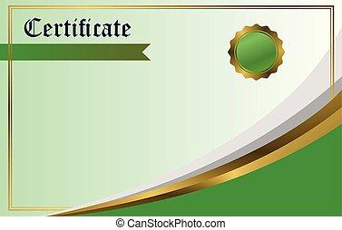 vecteur, conception, certificat