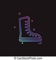vecteur, conception, chaussures, icône
