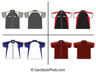 vecteur, conception, chemise, gabarit