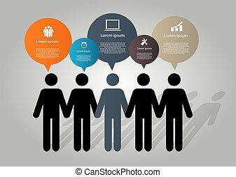 vecteur, conception, illustration, éléments, infographics