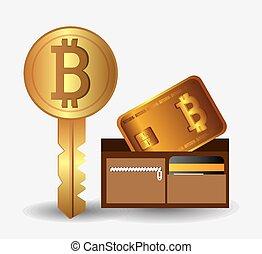 vecteur, conception, illustration., bitcoin
