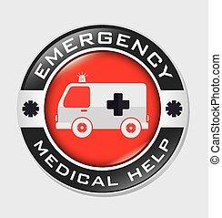 vecteur, conception, urgence, illustration.