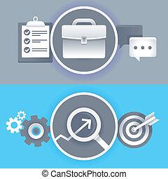 vecteur, concepts affaires, dans, plat, style