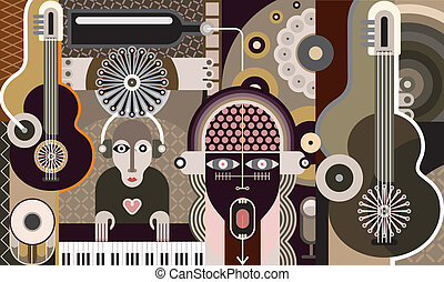 vecteur, -, concert, illustration