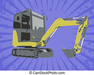 vecteur, construction, camion