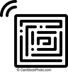 vecteur, contour, anti-theft, illustration, jetable, icône, autocollants
