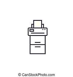 vecteur, coups, editable, illustration, machine, signe, fond, icône, ligne, copie