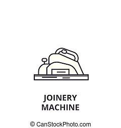 vecteur, coups, menuiserie, editable, illustration, machine, signe, fond, icône, ligne