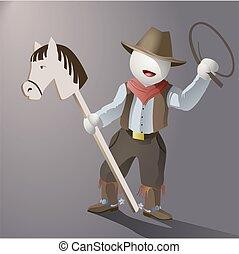 vecteur, cow-boy