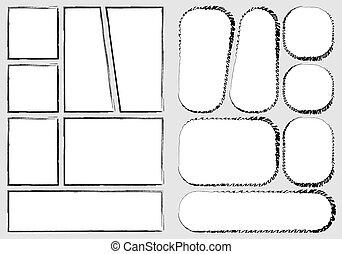 vecteur, créer, impression, a4, rapidement, papier, style, ...