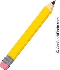 vecteur, crayon, blanc, arrière-plan., illustration