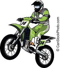 vecteur, croix, illustration, moto