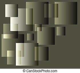 vecteur, cube, fond