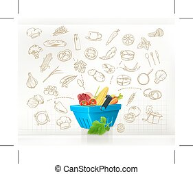 vecteur, cuisine, infographics