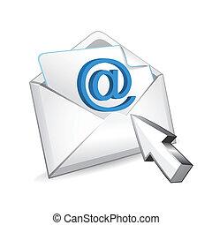 vecteur, curseur, courrier