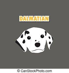 vecteur, dalmatien, chien