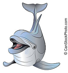 vecteur, dauphin
