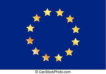 vecteur, de, les, drapeau, de, les, union européenne