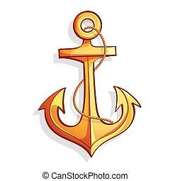 Bateau dessin anim ancre m tal illustration dessin vecteur eps rechercher des clip - Dessin ancre bateau ...
