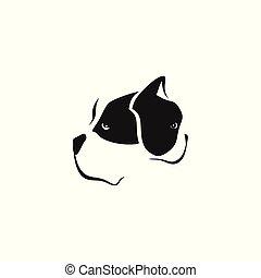 vecteur, deux, illustration, chiens