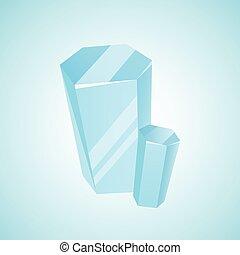 vecteur, diamant, cristal, gemme