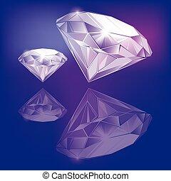 vecteur, diamants
