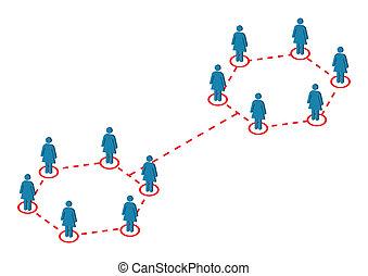 vecteur, distribution, global, femme, illustration