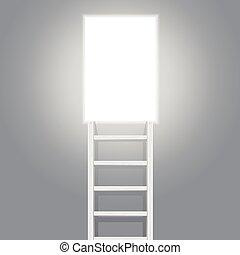 vecteur, door., escalier