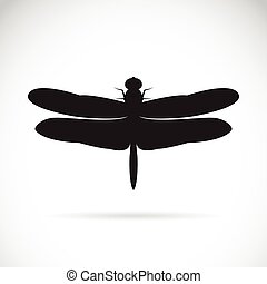 vecteur, dragonfly.