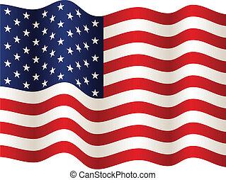 vecteur, drapeau etats-unis