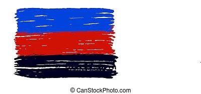 vecteur, drapeau, minorités, background.polyamory., blanc, ...
