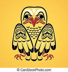 vecteur, eagle., illustration