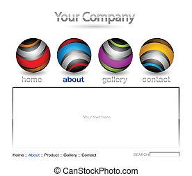 vecteur, editable, site web, gabarit