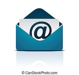 vecteur, email, /, signe