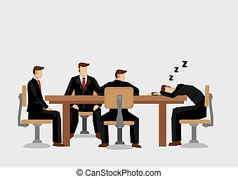vecteur, endormi, tomber, illustration, dessin animé,...