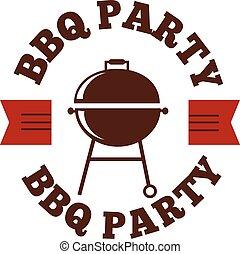 vecteur, ensemble, barbecue, illustration