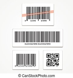 vecteur, ensemble, barcode