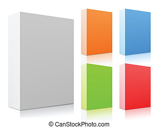 vecteur, ensemble, boxes., coloré